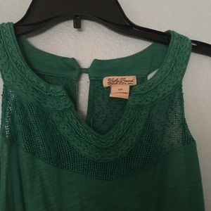 Lucky Brand Tops - Green Lucky brand too. Sewn on detailing.